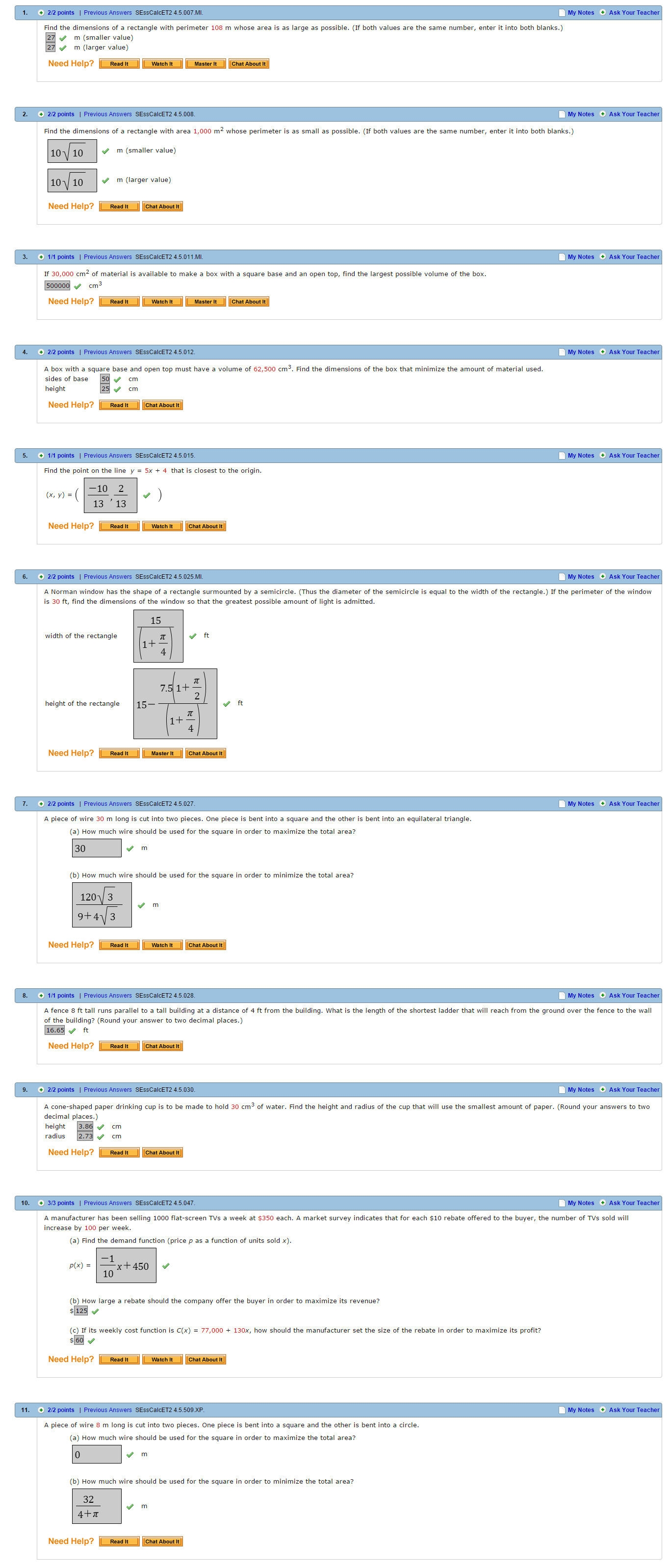 4 5 | Webassign Answers